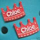 2 GIRLS NAMES SHOE CHARMS FOR CLOGS AND JIBBITZ BANDS.