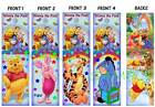 4 LOT-BOOKMARK Winnie the Pooh TIGGER Piglet EEYORE Fun for Kids to Read with