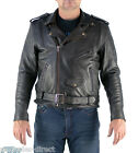 Mens Soft Supple Aniline Cowhide Leather Brando Jacket -CE Armour Airvent Preord