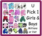 MITTENS GIRLS NWT NEW BABY TODDLER TCP GLOVES INFANTS
