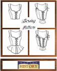 Butterick 4669 Sewing Pattern to MAKE Historic Laced Corsets with Peplum Vari