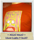 Mucho Macho Lucha Libre Mexican Wrestling adult tshirt red