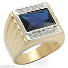 Huge Montana Blue Stone Gold EP Mens Ring New