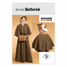 Butterick 5265 Sewing Pattern to MAKE Historic Cape, Skirt, Bonnet & Muff