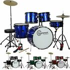 New FULL SIZE 5 Piece Drum Set with Cymbals Stands Stool Sticks Gammon <br/> FREE SHIP~Everything Included~MANY COLORS~ #1 SELLER