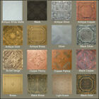Painted Tin-Look Faux Ceiling Tiles 20x20 Diff Colors 2