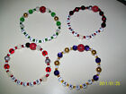 Basketball Bead Bracelets-NBA-Lakes,Celtics,Bulls,Heat
