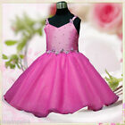 Hot Pink Christening Party Prom Dress Flower Girl Dresses SIZE 2 3 4 5 6 7 8 10Y