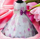 Purples Wedding Fancy Party Flower Girls Dress Age 3-8Y