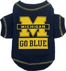 Michigan Wolverines Pet  Dog Tee Shirt NCAA (all sizes)