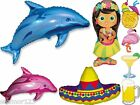 Hawiian Hula Party Helium Mixed Foil Supershapes BNIP