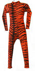 ANIMAL PRINT LONG SLEEVE CATSUIT/UNITARD TIGER/TIGGER - BRIGHT ORANGE & BLACK