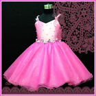 UK-HP875 18HT Pink Pageant Christmas Party Flower Girls Dress AGE 2-3-4-5-6-7-8Y