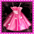 NT UKHP5299 HOT Pink Christmas Wedding Party Girls Dress AGE 2-3-4-5-6-7-8-9-10Y