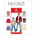 McCall's 6226 Boy's Loose Fitting w/Collar & Sleeve Variations Sewing Pattern
