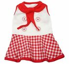 DOG DRESS - RED AND WHITE SAILOR GIRL - SIZE LARGE