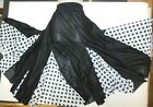 NWT Mainstreet Flamenco Drawstring Skirt dotted White and Black Large Adult