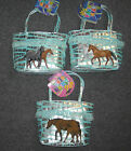 Toddler Sized HORSE Purse~GREAT GIFT ITEM~Blue & Silver Foil~NWT~U Choose~