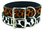 Auburn Leathercrafters QUALITY Leather Dog Collars LEOPARD, SNOW LEOPARD