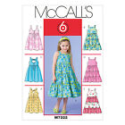 McCall's 7222 Sewing Pattern to MAKE  Girls' Dresses in 6 Designs Very Versatile