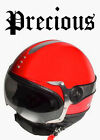 Casque Jet PRECIOUS Rouge scooter moto Helmet Gloss Red Harley Davidson Triumph