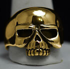 New Authentic 10K Gold Biker Jewelry Skeleton punisher skull ring Pick your size