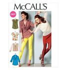 McCall's 6604 OOP Sewing Pattern to MAKE Easy Misses' Tops with Variations