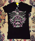 Felon Pin Up Punk Street Bike Gothic Americana Tattoo Art Womens Tee VICTORY $24.0 USD on eBay