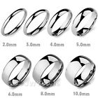Size6,7,8,9,10,11,12,13 Silver Stainless Steel Men Ring Wedding Band US39E284