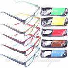 Reading Glasses 2Tone +1 +1.5 +2 +2.5 +3 Mens Ladies Red Blue Yellow Brown Green