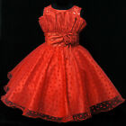 Easter Reds Baptism Christmas Pageant Girls Dresses AGE SIZE 2-3-4-5-6-7-8-9-10T