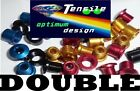Onza Alloy Chainring Bolts, Double, ultra light, red, blue, gold top quality NEW