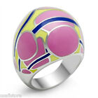Ladies Modern Colored Huge Stainless Steel Ring New