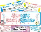 Baby Shower Birth Congratulations Its a Boy Girl Personalised Banner 1-5m