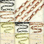 New 2m/4m Antique Copper Brass Silver Black Unfinished Iron Oval Cable Chains