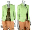 ARMANI COLLEZIONI JACKET BLAZER TECHNO FABRIC LIGHT GREEN 2 , 4