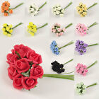 Small Foam Rose Buds in a Bunch of 10!  in 13 Colours! Soft Artificial Flowers