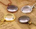 Full Set DIY Picture Pendant Photo Glass Dome Necklace gold silver bronze bn89
