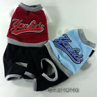 Dog&Cat Clothes Yankids Letter Embroidery Jumpsiuts Thick All-in-One Hoodie_H304