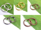 Silver plated Double Loop split Jump Rings Jewelry make findings
