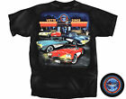 Corvette Lost in 50's Corvette Diner Black T-Shirt