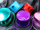 GISELA GRAHAM METALIC FABRIC TOP HAT FANCY DRESS COSTUME SEQUIN NEW YEAR PARTY