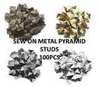 100pcs Metal PYRAMID STUD sew on stitch on stick on Embellishments, Biker, Goth