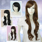 New SN171 Dark Brown Women Girls Long/Short Curly/Straight/Wavy Full Wig
