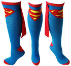 DC Comics Superman Socks Knee High With CAPE Attached LICENSED PRODUCT