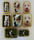 1oz 2oz Tobacco Tin Baccy Box Plectrum container TERRIER WEST HIGHLAND DOG