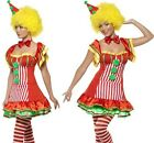 Ladies Smiffys Boo Boo the Clown Fancy Dress Costume S, M or L New 1st Class