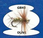 Fly Fishing Trout Flies : GOLD BEAD HOPPER CLARET (GBH3) Dry Fly Goldbead Flies