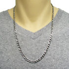 """Stainless Steel 24"""" or 30"""" Figaro Chain Necklace 6mm HIGH QUALITY"""