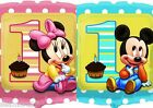 "Mickey & Minnie 1st birthday 18"" helium foil balloon with a weight & Ribbon"